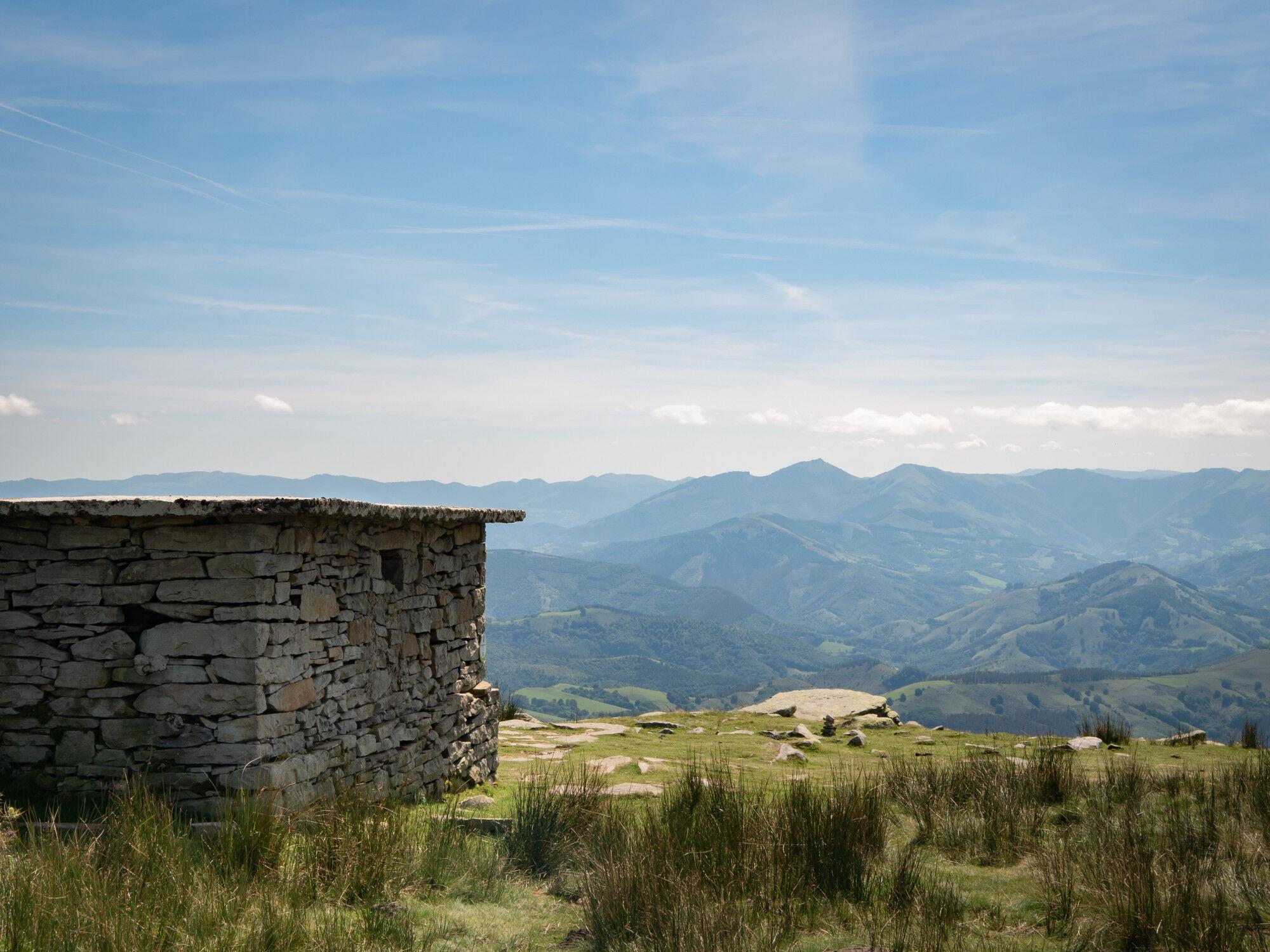 Sommet de La Rhune (Larrun en basque), France - Pays Basque, France & Espagne